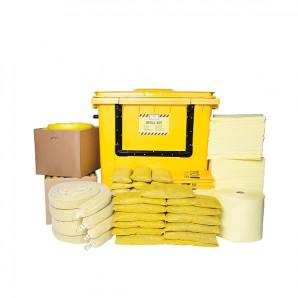 Kit PIG® Essentials di gestione delle fuoriuscite di prodotti chimici - Contenitore con ruote e apertura anteriore
