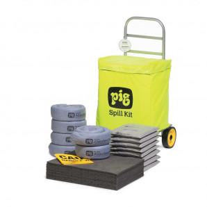 Kit di intervento PIG® con sacco su carrello a ruote – Universale