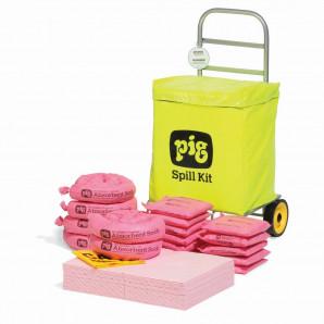 Kit di intervento PIG® con sacco su carrello a ruote – Linea HAZ-MAT