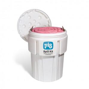 Kit per sversamenti PIG® in un fusto di recupero Overpack da 360 litri – HAZ -MAT