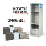 Confezione doppia di assorbenti PIG® Universali con armadio Spill Station GRATIS