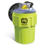Kit antisversamento PIG in Contenitore da 360 litri ad alta visibilità