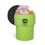 Kit antisversamento PIG in Contenitori da 360 litri ad alta visibilità